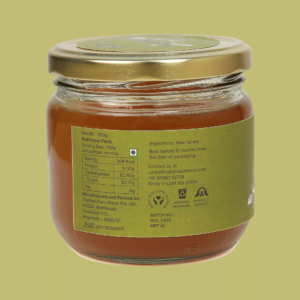 honey nutritional label